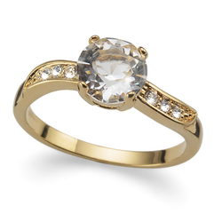 Prsten s krystaly Swarovski Oliver Weber Brilliant Gold