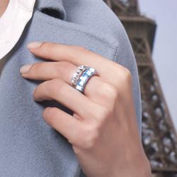 Obrázek č. 1 k produktu: Prsten s krystaly Swarovski Oliver Weber Club Gold