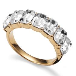Prsten s krystaly Swarovski Oliver Weber Club Gold
