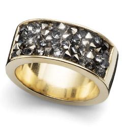 Prsten s krystaly Swarovski Oliver Weber Lucky Gold