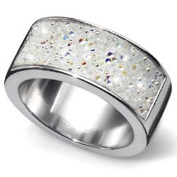 Prsten s krystaly Swarovski Oliver Weber Lucky Crystal AB