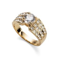 Prsten s krystaly Swarovski Oliver Weber Inspire Gold