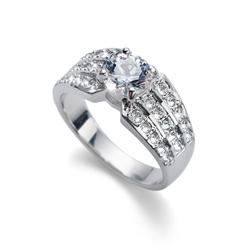 Prsten s krystaly Swarovski Oliver Weber Inspire Silver