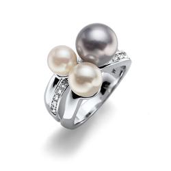 Prsten s krystaly Swarovski Oliver Weber Basic Silver