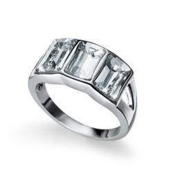 Prsten s krystaly Swarovski Oliver Weber Proud Silver