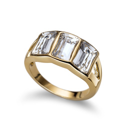 Prsten s krystaly Swarovski Oliver Weber Proud Gold