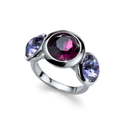 Prsten s krystaly Swarovski Oliver Weber Every Silver