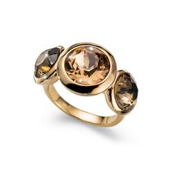 Prsten s krystaly Swarovski Oliver Weber Every Gold