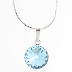 Náhrdelník s krystalem Swarovski Rivoli 12 Aqua