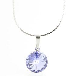 Náhrdelník s krystalem Swarovski Rivoli 12 Light Violet