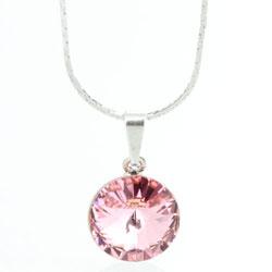 Náhrdelník s krystalem Swarovski Rivoli 12 Light Rose