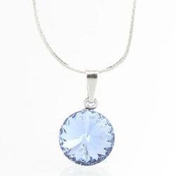 Náhrdelník s krystalem Swarovski Rivoli 12 Light Sapphire