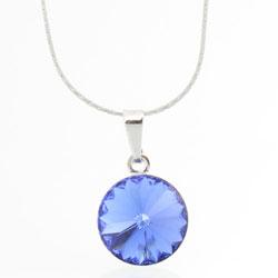 Náhrdelník s krystalem Swarovski Rivoli 12 Sapphire