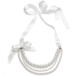 Náhrdelník s perlami Oliver Weber Pretty 4331-WHI