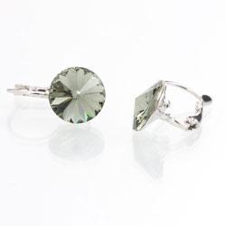 Náušnice s krystaly Swarovski Rivoli 12 Black Diamond