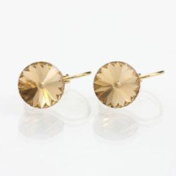 Náušnice s krystaly Swarovski Rivoli Gold Topaz