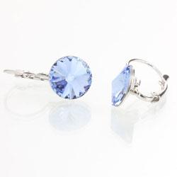 Náušnice s krystaly Swarovski Rivoli 12 Light Sapphire