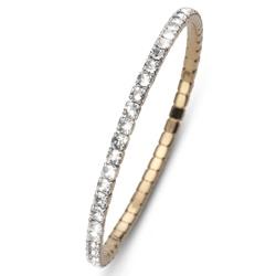 Náramek s krystaly Swarovski Oliver Weber Dance Gold Crystal