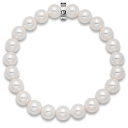 Náramek s krystaly Swarovski Oliver Weber Shiny White Pearl