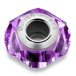 Přívěsek s krystaly Swarovski Oliver Weber Match Helix Thin Amethyst
