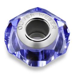 Přívěsek s krystaly Swarovski Oliver Weber Helix Thin Denim