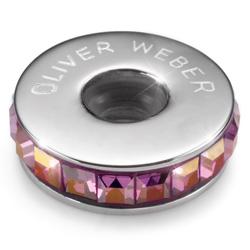 Pøívìsek s krystaly Swarovski Oliver Weber Match Stopper Lilac