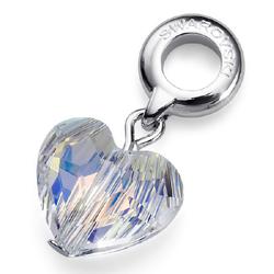 Přívěsek s krystaly Swarovski Oliver Weber Match Crystal Heart