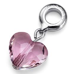 Přívěsek s krystaly Swarovski Oliver Weber Match Pink Heart