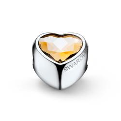 Pøívìsek s krystaly Swarovski Oliver Weber Close Heart Golden