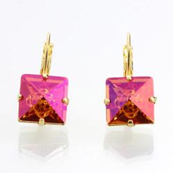 Náušnice s krystaly Swarovski 61400072GFIRE