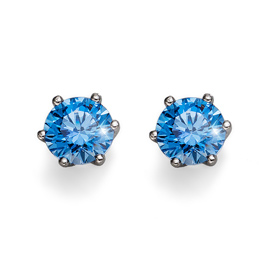 Náušnice s krystaly Swarovski Oliver Weber Brilliance Medium Blue