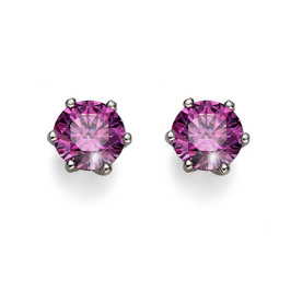 Náušnice s krystaly Swarovski Oliver Weber Brilliance Medium Purple