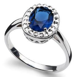 Prsten s krystaly Swarovski Oliver Weber Pure Sapphire