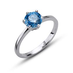 Prsten s krystaly Swarovski Oliver Weber Brilliance Large Blue