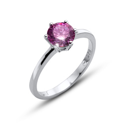 Prsten s krystaly Swarovski Oliver Weber Brilliance Large Purple