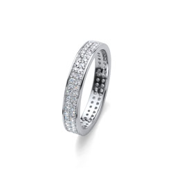Stříbrný prsten s krystaly Swarovski Oliver Weber Value 63226