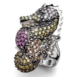 Prsten s krystaly Swarovski Oliver Weber Chilka Seahorse