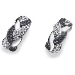 Stříbrné náušnice s krystaly Swarovski Oliver Weber Braid