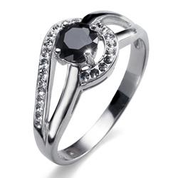 Prsten s krystaly Swarovski Oliver Weber Island