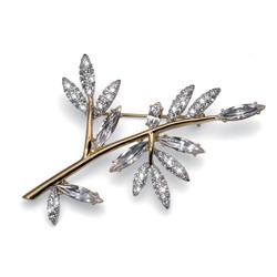 Ozdobná brož s krystaly Swarovski Oliver Weber Tree 58035