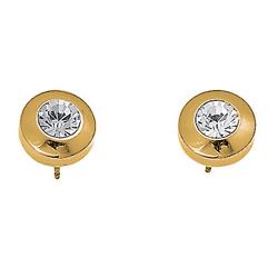 Náušnice s krystaly Swarovski Oliver Weber Diamond Gold