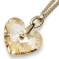 Přívěsek s krystaly Swarovski Oliver Weber Eternal Golden