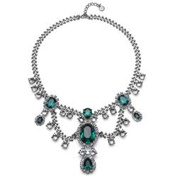 Náhrdelník s krystaly Swarovski Oliver Deluxe Emerald