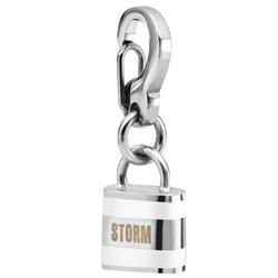 Pøívìsek Storm Enamel Lock Charm White