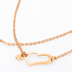 Ocelový náhrdelník Storm Heart Rose Gold