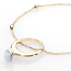 Ocelový náhrdelník Storm Aamina Gold