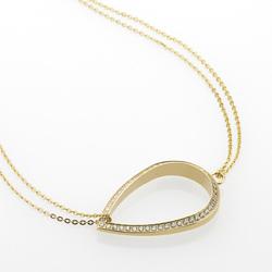 Ocelový náhrdelník Storm Elipsia Gold