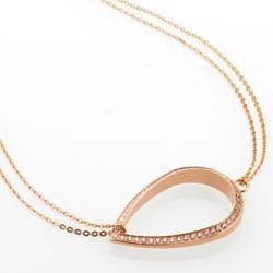 Ocelový náhrdelník Storm Elipsia Rose Gold