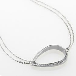 Ocelový náhrdelník Storm Elipsia Silver