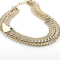 Ocelový náhrdelník Storm Trygo Gold